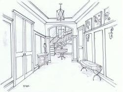 Entry hall sketch