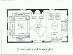Scaled furniture plan